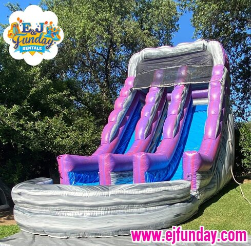 Purple Rush Dual Lane Water Slide