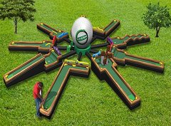 Inflatable 9 Hole Mini Golf 42'Wx42'Lx9'H