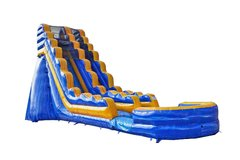 4th of July Melting Arctic Single Lane Water Slide with Splash Landing | Area Needed 21'Wx41'Lx21'H