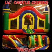 Toddler Lil Castle Bounce House with Slide and Obstacles 18x17