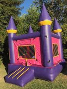 10x10 Castle Bounce House Jumper Purple w/Pink