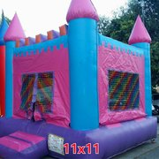 11x11 Pink and Blue Castle Bounce House Jumper