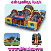 Adrenaline Rush 3 Piece Obstacle Course 26'Wx38'Lx18'H