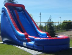 Big Drop Wet/Dry Single Lane Water Slide with 14ft High Platform and Splash Pool | Area Needed 19'Wx35'Lx20'H