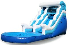 4th of July Big Wave Wet/Dry Single Lane Water Slide w/Splash Pool | Area Needed 19'Wx35'Lx20'H