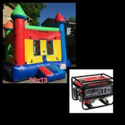 #4 13x13 Multi Color Jumper w/Hoop in a Park w/Generator 3500+watts