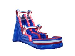 American Knockout Single Lane Water Slide with Splash Landing | Area Needed 21'Wx41'Lx22'H