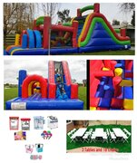 30-40ft Obstacle Course Party Package