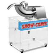 Large Snow Cone Machine includes bottle of syrup and 50 serving cones