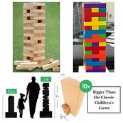 Jumbo Jenga Style Blocks Game