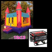 #5 13x13 Pink with Yellow Jumper in a Park w/Generator 3500+watts