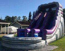 Purple Rush Dual Lane Water Slide | Area Needed 20'Wx36'Lx22'H