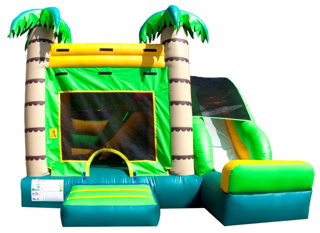 Tropical 4 in 1 Jumper and Slide Combo