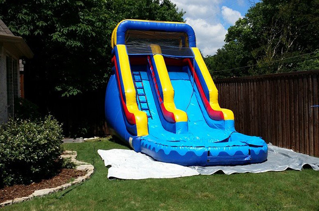Front Load Water Slides with Pool