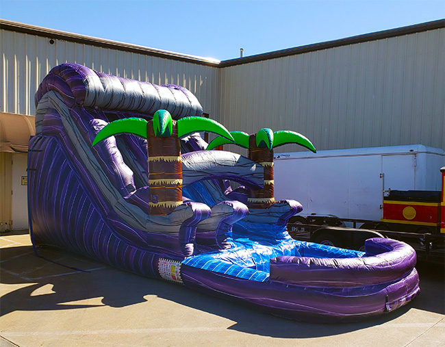 Purple Water Slide Pool