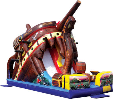 Pirate Themed Treasure Island Slide - 628