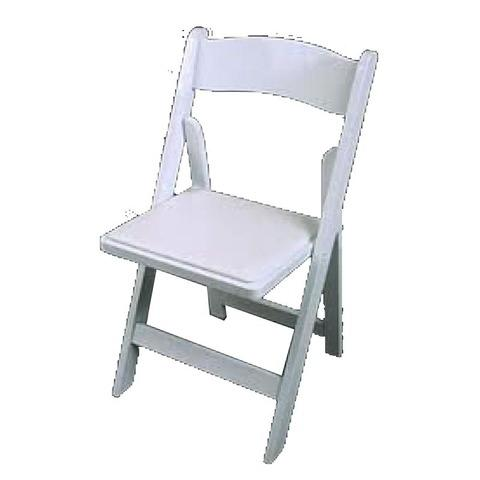 White Adult Garden Chairs w/ Padding