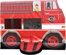 Fire Truck Bounce House 216