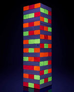 Blacklight Tumbling Blocks (Jenga)
