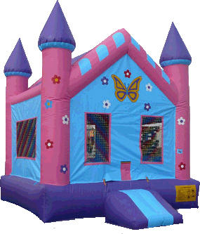 Princess Butterfly Castle Bounce House 214