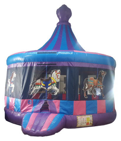 Princess Carousel Bounce House 222