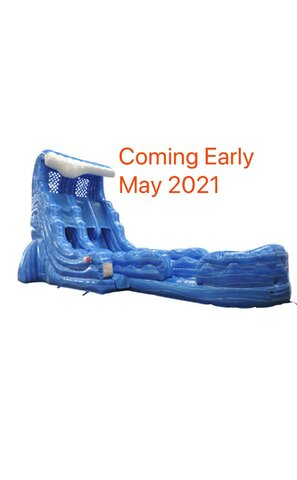 22 Foot Tidal Wave Double Lane Water Slide - May 2021