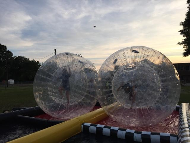 75 Foot Double Lane Zorb Ball Race Track