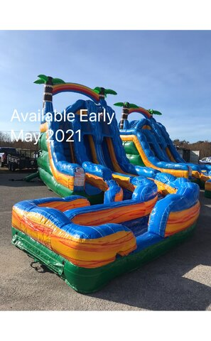18 Foot Tropical Thunder Double Lane Water Slide - May 2021
