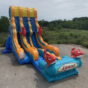 22 Foot Double Lane Big Kahuna Water Slide