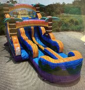 15 Foot Tiki Double Lane Water Slide