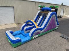14 Foot Radical Run Double Lane Water Slide