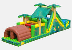 Alligator Alley 40 Ft  Backyard Obstacle with 12 Ft Slide