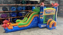 Double Lane Big Kahuna Combo Water Slide