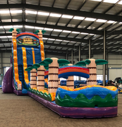 27 Foot Tiki Plunge Water Slide with 35 FT Slip-n-Slide