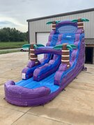 18 Foot Purple Hurricane Water Slide