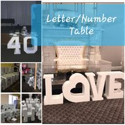 Letter/ Number Tables/ Pedestals