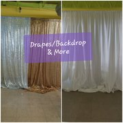 Drapes/Backdrop/Linens & More