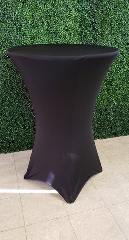 Bistro/Cocktail Tables Covers (Black Spandex)
