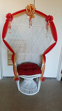 Wicker High Back Chair