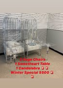 Silver Cage Chairs Winter Special