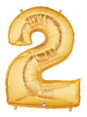 "Gold Number ""2"" Balloon"