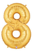 "Gold Number ""8"" Balloon"