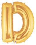 "Gold Letter ""D"" Balloon"