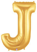 "Gold Letter ""J"" Balloon"