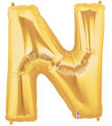 "Gold Letter ""N"" Balloon"