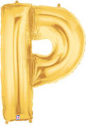 "Gold Letter ""P"" Balloon"