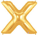 "Gold Letter ""X"" Balloon"