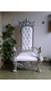 King Henry Silver Trim Chair