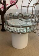 Silver Chandelier Cake Table