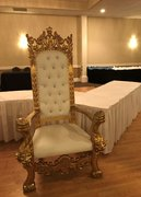 King Henry Gold Trim Chair